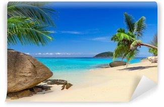 Vinyl Fototapete Tropische Strandlandschaft in Thailand