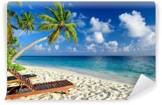 Vinyl-Fototapete Tropischer Strand