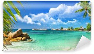 Vinyl Fototapete Tropisches Paradies - Seychellen