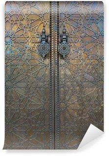 Vinyl-Fototapete Tür an Dar El Makhzen, Marokko