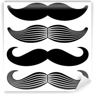 Vinyl-Fototapete Vektor-Schnurrbart vintage schwarze Symbole