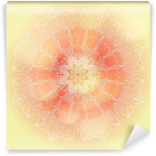 Vinyl-Fototapete Vektor zarten Spitzen runden Muster