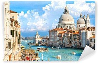 Vinyl-Fototapete Venedig, Blick auf den Canal Grande und die Basilika von Santa Maria bekannt