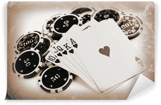 Vinyl Fototapete Vintage-Poker-Konzept