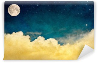 Vinyl-Fototapete Vollmond und Wolken