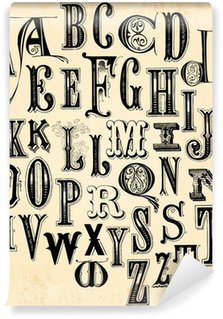 Vinyl-Fototapete Weinlese-Alphabet