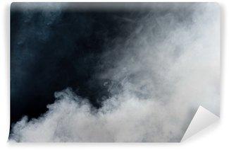 Vinyl-Fototapete Weißer Rauch auf schwarzem Hintergrund. Isoliert.