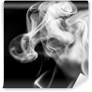Vinyl-Fototapete Weißer Rauch auf schwarzem Hintergrund