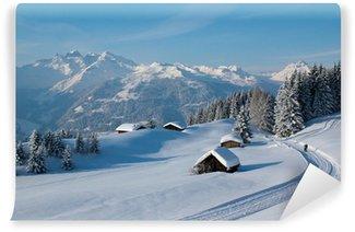 Vinyl-Fototapete Winterwanderung in den Alpen