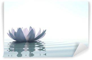 Vinyl-Fototapete Zen Blume loto im Wasser