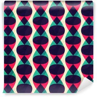 Vinyl-Fototapete Zick-Zack-nahtlose Muster mit Grunge-Effekt