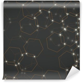 Vinyl-Fototapete Zusammenfassung Hintergrund der hexagonalen Zellen, geometrische Design Vektor-Illustration eps 10