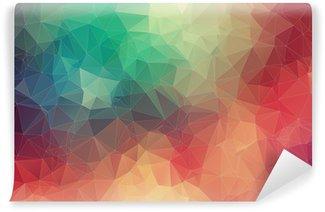 Fototapet av Vinyl Abstrakt 2D geometrisk färgrik bakgrund