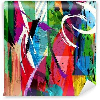 Fototapet av Vinyl Abstrakt bakgrund sammansättning, med penseldrag, stänk en