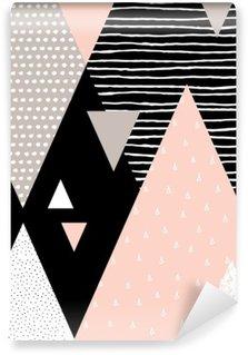 Abstrakt Geometrisk Landskab Vinyl Fototapet