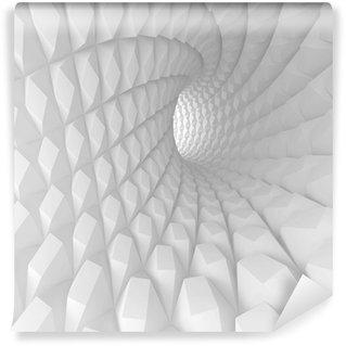 Fototapet av Vinyl Abstrakt Spiral Tunnel Render