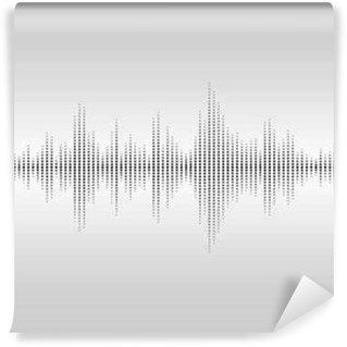 Fototapet av Vinyl Abstrakta ljudvågor