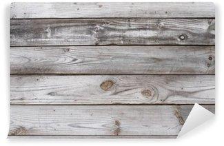 Fototapet av Vinyl Aged Wood Bakgrund Texture Horisontell