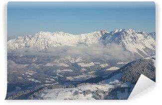 Fototapet av Vinyl Alpenpanorama im Winter am Wilden Kaiser in Tirol