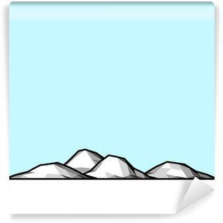 Fototapet av Vinyl Antarctica pol nord-sydlig is landskap stiliserad
