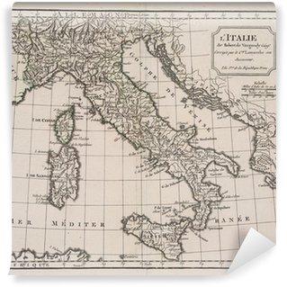 Fototapet av Vinyl Antik karta över Italien