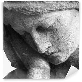 Fototapet av Vinyl Antik staty av jungfru Maria be (religion, tro, helig