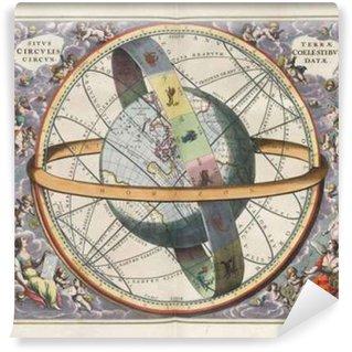Fototapet av Vinyl Astronomiska diagram, Vintage