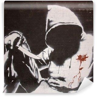 Fototapet av Vinyl Banksy graffiti vid burkar festival, London