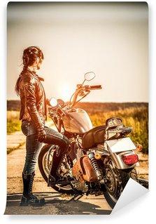 Fototapet av Vinyl Biker jente