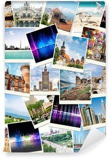 Fototapet av Vinyl Bilder från resor till olika länder
