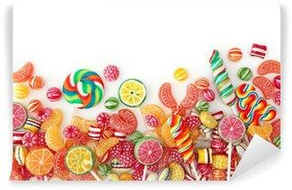 Fototapet av Vinyl Blandade färgglada frukt bonbon nära upp