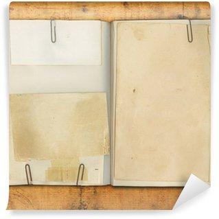 Fototapet av Vinyl Blank tappning bokar på Weathered Wood