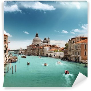 Fototapet av Vinyl Canal Grande och basilikan Santa Maria della Salute, Venedig, Italien