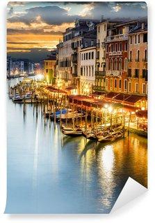 Fototapet av Vinyl Canal Grande på natten, Venedig