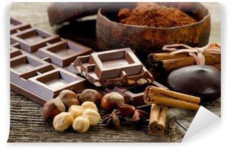 Fototapet av Vinyl Choklad med ingredienser-cioccolato e ingredienti