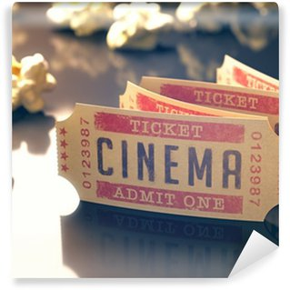 Fototapet av Vinyl Cinema Vintage. Urklippsbana ingår.