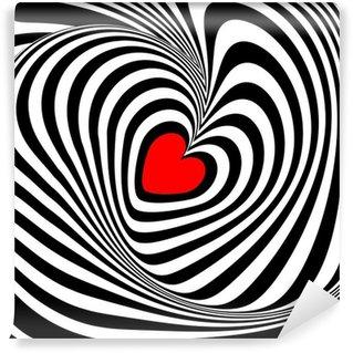 Fototapet av Vinyl Design hjärta whirl illusion bakgrund