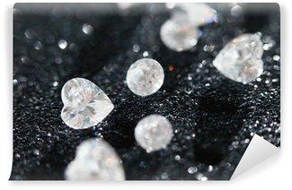 Fototapet av Vinyl Diamanter på svart bakgrund