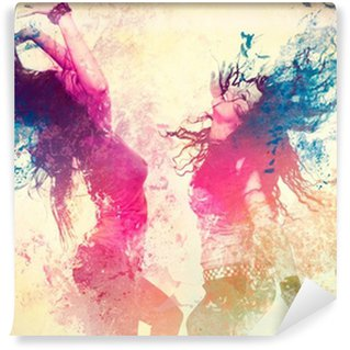 Fototapet av Vinyl Disco disco 09 / flytta splash