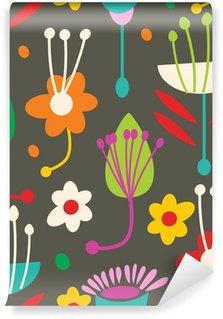Fototapet av Vinyl Doodle sömlösa blommönster