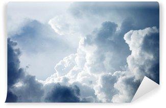Fototapet av Vinyl Dramatisk himmel med stormfulle skyer
