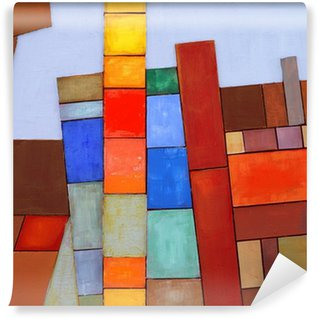 Fototapet av Vinyl En målad Abstrakta collage