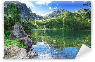 Fototapet av Vinyl Eye of the Sea sjön i Tatrabergen, Polen