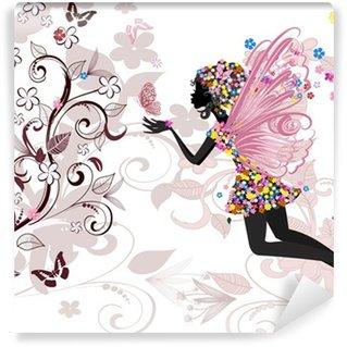 Fototapet av Vinyl Fairy mönster