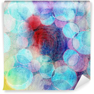 Fototapet av Vinyl Färgade cirklar konstillustration