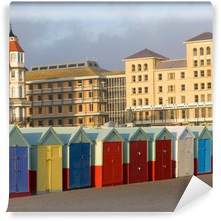 Fototapet av Vinyl Färgstarka stranden hyddor