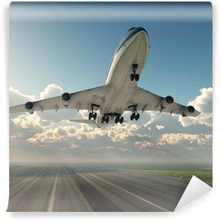 Fototapet av Vinyl Flygplan lyfter