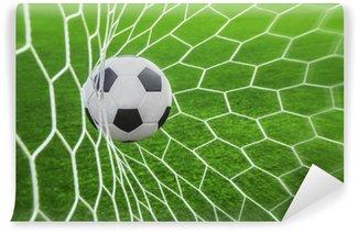 Fototapet av Vinyl Fotboll i mål