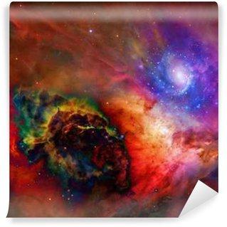 Fototapet av Vinyl Galactic Space Vissa delar tillhandahålls artighet av NASA__