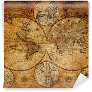 Fototapet av Vinyl Gammal karta (1746)